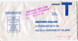 """FRANCE LETTRE AVEC CACHET """" COURRIER RETARDE SUITE ACCIDENT AEROPOSTALE DU 29-01-88 """"  (voir Note Explicative) - Lettere Accidentate"""