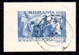 ROMANIA 1947 Social Assistance Block Used.  Michel Block 36 - 1918-1948 Ferdinand, Charles II & Michael