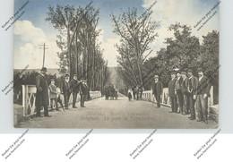 SERBIA / SERBIEN - BELGRAD, Le Pont De Toptchdere, 1915, Deutsche Feldpost, Eckknick - Serbia