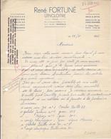 René Fortuné , Faïences , Poteries ,à Lencloitre , Vienne ,courrier De 1943 - 1900 – 1949