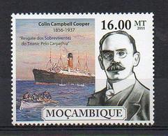 """Colin Campbell Cooper, """"Rescue Of The Survivors Of The Titanic"""" 1912 - Art Stamp (Mozambique 2011) - MNH (1W2080) - Non Classificati"""