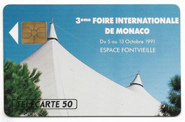 MF18, 50U, Puce Gem, 10/91. - Mónaco