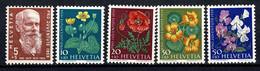 Helvetia  1959  Yv. 634/38*,  Mi 687/91*, MH (2 Scans) - Nuevos