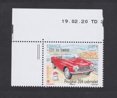 FRANCE 2020 - Peugeot 204 - Fête Du Timbre 2020 - Coin De Feuille Daté  Du 19 02 20 - Neuf ** - Unused Stamps