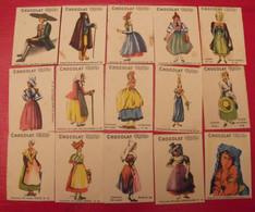 15 Images Bon-point Chocolat COOP. Pour Album Costumes, Types, Races. 1ère Série. Lot 145. Vers 1960. - Andere