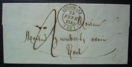 Colombey (Meurthe) 1845 Cad T 14, Lettre Pour Toul, Sans Correspondance - 1801-1848: Precursors XIX