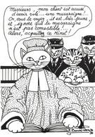 Illustration Illustrateur Bourdillon Jacqueline Chat Chats Série Professions Liberales Avocat  CPM - Andere Illustrators