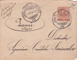 REGNO  - ITALIA - 1893 - BUSTA VIAGGIATA - LAGONEGRO - SICIGNANO - VIAGGIATA PER PANNI (FOGGIA) - Marcofilie