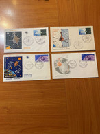 ANDORRE - LOT 4 FDC ESPACE -  ( Voire Scan ) Port Offert - Europe