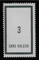 TIMBRES FICTIFS EMISSION DE 1932 N° F19 3 ARDOISE NEUF * RARE TB COTE 16 € - Phantom