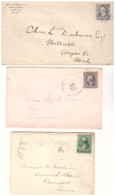 United States, Lot Of 5 Letters Sent From 1900 To 1920, Good Condition, Different Postmarks, Ref. Lot3 - Unclassified