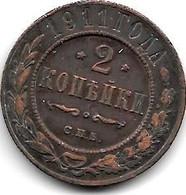 *russia 2 Kopeks 1911  Km 10.2  Vf - Russia