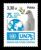 Poland 2020 Mih. 5246 United Nations. Bird. Pigeon MNH ** - Nuevos