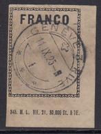 Suisse, Timbre Franco, N° Zst FZ 1 A, Oblitération Genève, 1911 - Used Stamps