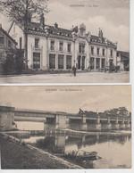 Lot De 2 CPA Auxonne - Pont Du Chemin De Fer / La Gare - Auxonne