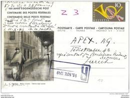 5 - 46 - Entier Postal  100 Ans Des Postes Fédérales - écrit Mais Pas Posté 1949 - Entiers Postaux