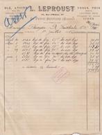 LA FERTE BERNARD LEPROUST VESCE POIS CHENEVIS CIDRE GRUAU LUZERNE POMMES ANNEE 1908 - Francia