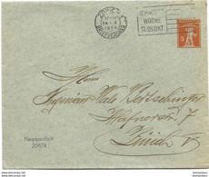 "164 - 10 - Entier Postal Avec Superbe Oblit Mécanique  ""Schweizer Woche Zürich 1924"" - Interi Postali"