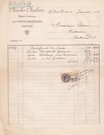 LA FERTE BERNARD CHARLES CHALAIN MEDECIN VETERINAIRE ANNEE 1933 - Francia