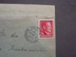 Polen Dobczyce , Nice Cancelation 1942 Mit Inhalt - Ocupación 1938 – 45
