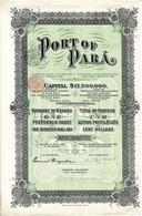 Action Ancienne - Port Of Para - Titre De 1906 - Transport