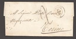 1857  Lettre De Cagliari Pour Torino - Sicily