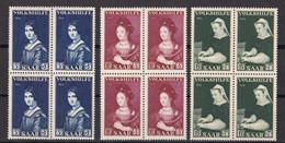 Saarland - 1956 - Michel Nr. 376/378 Viererblock - Postfrisch - Ongebruikt