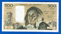 500 Fr  Du  13 /1 /1985 - 500 F 1968-1993 ''Pascal''