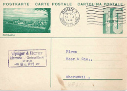"PK 128  ""Zurzach""           1931 - Interi Postali"