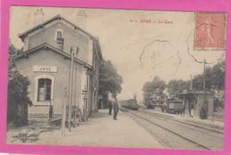 D37 - JOUE - LA GARE - Plusieurs Personnes - Train - Other Municipalities