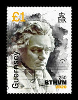 Guernsey 2020 Mih. 1807 Music. Composer Ludwig Van Beethoven (IV) MNH ** - Guernsey