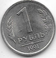 *russia  1 Rouble  1991  Km 293  Xf+/ms60 - Russia