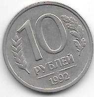 *russia  10 Roubles  1992  Km 313  Xf+/ms60 - Russia
