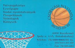 SPORT * BASKETBALL * PRESS OFFICE * PRINTING HOUSE * KECSKEMET * CALENDAR * Csorvasi Nyomda 2002 * Hungary - Klein Formaat: 2001-...