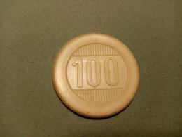 """9863"""" FICHES-CHIPS-CASINO DE LA VALLEE DA LIRE 100 """" - Casino"""
