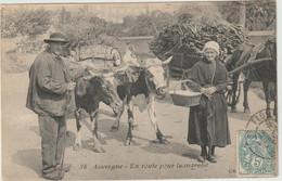 CPA   AUVERGNE EN ROUTE POUR LE MARCHE  BP TTB - Auvergne Types D'Auvergne