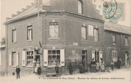 CPA  60 LA VILLENEUVE LE ROY BUREAU DE TABACS ET BUREAU TELEPHONIQUE - Andere Gemeenten