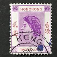 ◆◆◆Hong Kong 1954-60  Elizabeth II ,   $2   USED   AB032 - Hong Kong (...-1997)