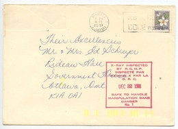 Canada 1981 X-Ray Inspected Cover Winnipeg To Schreyer, Rideau Hall, Government House - Storia Postale