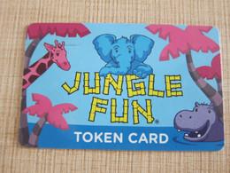 Jungle Fun Ala Moana Center, Token Card, Elephant, Giraffe And Hippo - Non Classés