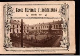 1 Livret -- Ecole Normale D'Instituteurs -- Loches (37 - Indre Et Loire) -- Année 1913 -- 18 Gravures - Documents Historiques