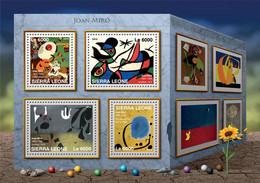 Sierra Leone 2016 Paintings Of  Joan Miró - Sierra Leone (1961-...)