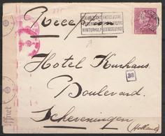 """L. Affr.N°429 Flam. """"BRUXELLES 1/14 VIII 1941"""" (Secours D'hiver/Winterhulp"""" Pour Hôtel à SCHEVENINGEN (Hollande) - Bande - 1936-1951 Poortman"""