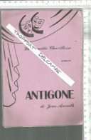 XD  // Rare   PROGRAMME Théâtre ANTIGONE CHAVILLE @@ Jean ANOUILH - Chaville