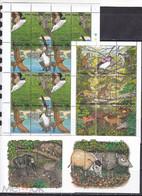 Guyana 1995 Birds Wild Forest Animls 2klb+2s/s MNH - Otros