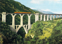 66 - Le Pont Séjourné - Le Train Jaune Franchissant Le Pont - Non Classés