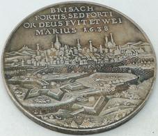 RÉPLICA Medalla Toma De Brisach. 1638. Bernardo De Sajonia-Weimar. Alemania. Guerra Treinta Años - Voor 1871