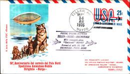 22797)  FDC 50° ANNIVERSARIO DEL SORVOLO DEL POLO NORD SPEDIZIONE AMUNDSEN-NOBILE DIRIGIBILE NORGE 14-5-1976 - 6. 1946-.. Republic