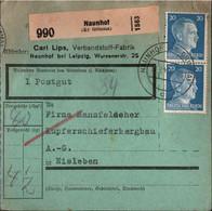 ! 1942 Naunhof Kreis Grimma Nach Eisleben, Paketkarte, Deutsches Reich, 3. Reich - Covers & Documents
