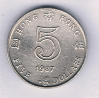 5 DOLLAR  1987 HONGKONG /8716/ - Hong Kong